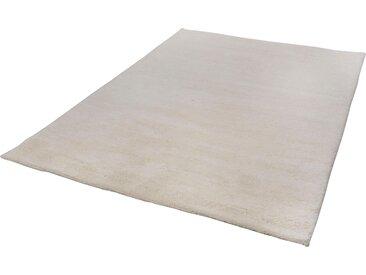 THEKO Wollteppich Taza Royal, rechteckig, 28 mm Höhe, echter Berber, reine Schurwolle, handgeknüpft, Wohnzimmer B/L: 140 cm x 200 cm, 1 St. weiß Esszimmerteppiche Teppiche nach Räumen
