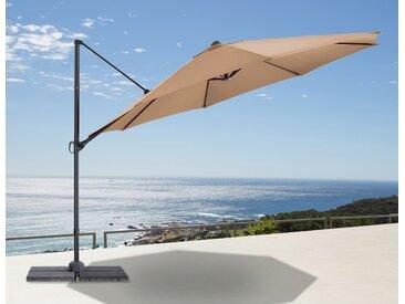 garten gut Ampelschirm Marbella, abknickbar, mit Schirmstände 350 cm beige Sonnenschirme -segel Gartenmöbel Gartendeko