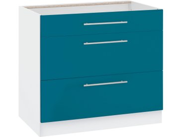 wiho Küchen Unterschrank Flexi2 Einheitsgröße blau Unterschränke Küchenschränke Küchenmöbel Schränke
