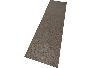 Theko Exklusiv Läufer Janne, rechteckig, 14 mm Höhe B/L: 90 cm x 250 cm, 1 St. grau Teppichläufer Bettumrandungen Teppiche