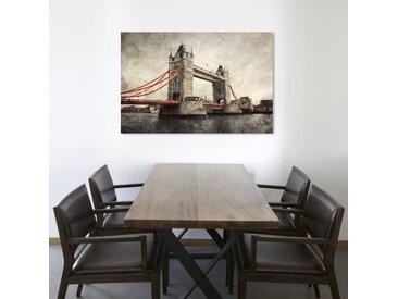 queence Leinwandbild Tower Bridge 120x80 cm grau Leinwandbilder Bilder Bilderrahmen Wohnaccessoires