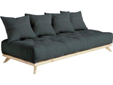 Karup Design Daybett Senza Daybed, mit Holzstruktur Baumwollmix, Liegefläche B/L: 90 cm x 200 Betthöhe: 85 cm, kein Härtegrad, Futonmatratze schwarz Einzelbetten Betten