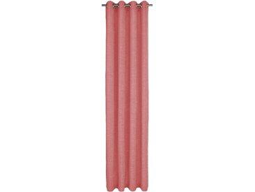 Vorhang, Trondheim 328 g/m², Wirth, Ösen 1 Stück 16, H/B: 255/270 cm, blickdicht / energiesparend, rosa Blickdichte Vorhänge Gardinen Gardine