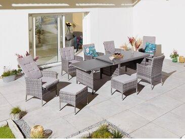 KONIFERA Gartenmöbelset Parla, (21 tlg.) ausziehbarer Tisch grau Gartenmöbel Gartenparty Aktionen Themen