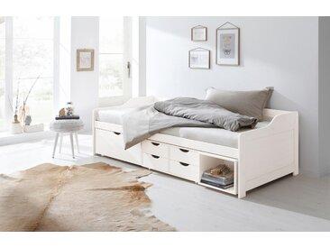 Home affaire Multimediabett Nils 90x200 cm weiß Einzelbetten Betten