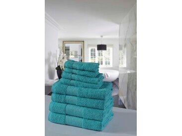 Emotion Handtuch Set Uni, mit großer Farbauswahl 8 tlg. blau Handtuch-Sets Handtücher Badetücher