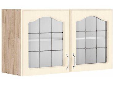 wiho Küchen Glashängeschrank Linz 100 x 56,5 35 (B H T) cm gelb Hängeschränke Küchenschränke Küchenmöbel Schränke