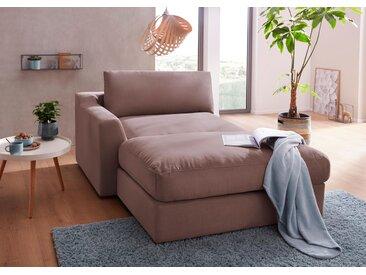 sit&more Recamiere Luxus-Microfaser ALTARA NUBUCK®, 139 cm, links braun Chaiselongues Recamieren Sofas Couches