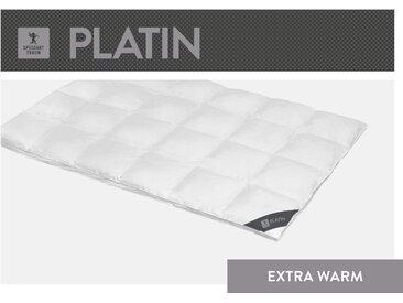 Gänsedaunenbettdecke, Platin, SPESSARTTRAUM, Füllung: 100% Gänsedaunen, Bezug: Baumwolle weiß, 155x200 cm weiß Daunendecke Bettdecken Bettdecken, Kopfkissen Unterbetten Bettdecke