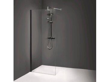 Dusbad Walk-in-Dusche Vital 8, Black Edition, 100 cm B/H: x 200 cm, beidseitig montierbar schwarz Duschwände Duschen Bad Sanitär