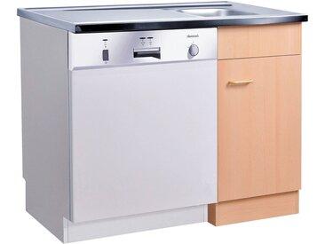 HELD MÖBEL Spülenschrank Elster, Spülzentrum für Unterbau-Geschirrspüler, ohne Front B/H/T: ca. 100/60/85 cm 100 x 85 60 cm, 1 beige Spülenschränke Küchenschränke Küchenmöbel