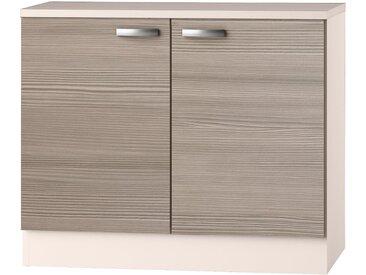 OPTIFIT Spülenschrank Vigo, Breite 100 cm x 84,8 60 (B H T) cm, 2-türig beige Spülenschränke Küchenschränke Küchenmöbel Schränke