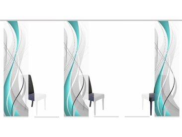 Schiebegardine, WUXi, HOME WOHNIDEEN, Klettband 6 Stück H/B: 245/60 cm, blickdicht, grün Blickdichte Vorhänge Gardinen Gardine