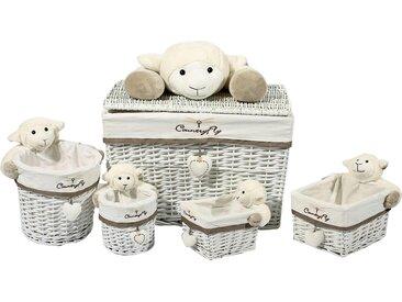 Kayoom Aufbewahrungskorb (Set, 5 Stück) 43x18x63 cm grau Körbe Aufbewahrung Ordnung Wohnaccessoires Aufbewahrungsboxen