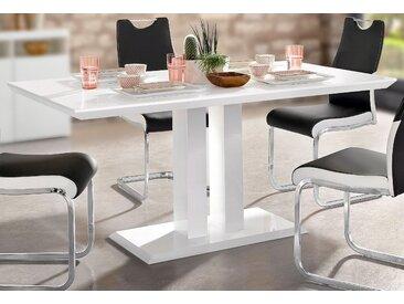 Säulen-Esstisch B/H/T: 160 cm x 76 90 weiß Esstische rechteckig Tische