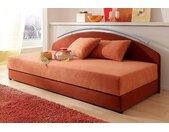 Maintal Polsterliege mit Rückenteil, Qualität 2, Liegefläche B/L: 90 cm x 200 cm, kein Härtegrad rot Betten Möbel Aufbauservice