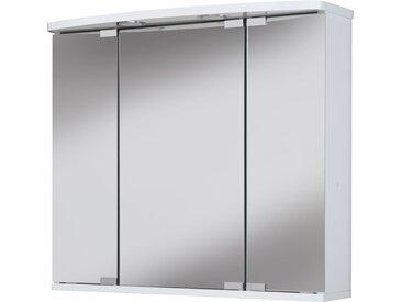 jokey Spiegelschrank Doro LED, 68 cm Breite B/H/T: 67,4 x 60 22 cm, 3 weiß Spiegelschränke mit Beleuchtung Badmöbel