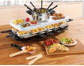 GOURMETmaxx Raclette und Fondue-Set Raclette- Fondue Set, 12 St. Raclettepfännchen, 1600 W Einheitsgröße weiß Küchenkleingeräte SOFORT LIEFERBARE Haushaltsgeräte