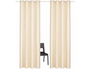 Vorhang, Glow, Guido Maria Kretschmer Home&Living, Ösen 2 Stück 1, H/B: 145/140 cm, blickdicht, goldfarben Blickdichte Vorhänge Gardinen Gardine
