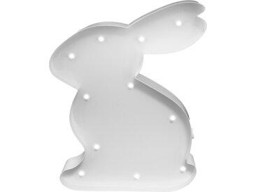 MARQUEE LIGHTS LED Dekolicht Hase Häschen, 1 St., Warmweiß, Wandlampe, Tischlampe Rabbit mit 11 festverbauten LEDs - 15cm Breit und 23cm hoch flg., Höhe: 23 cm weiß LED-Lampen LED-Leuchten SOFORT LIEFERBARE Lampen Leuchten