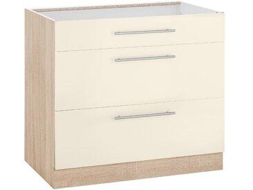 wiho Küchen Unterschrank Flexi2 Einheitsgröße beige Unterschränke Küchenschränke Küchenmöbel Schränke