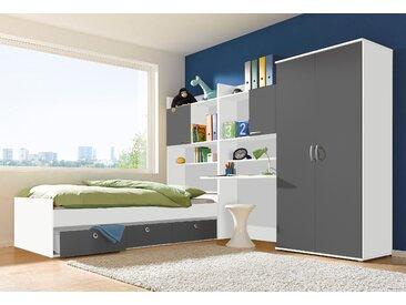 rauch BLUE Jugendzimmer-Set Emilio (Set, 4-tlg) Mit 2-trg. Kleiderschrank grau Kinder Komplett-Jugendzimmer Jugendmöbel Kindermöbel Schlafzimmermöbel-Sets