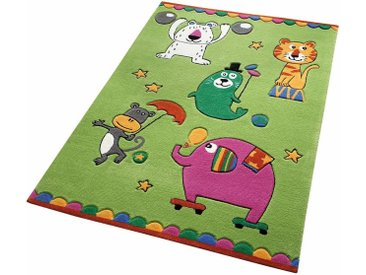 Kinderteppich, Little Artists, SMART KIDS, rechteckig, Höhe 10 mm, handgetuftet 31, 130x190 cm, mm grün Kinder Bunte Kinderteppiche Teppiche