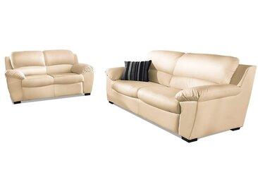 COTTA Sitzgruppe (Set, 2-tlg) Luxus-Kunstleder beige Couchgarnituren Sets Sofas Couches Sitzmöbel-Sets
