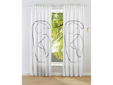 LeGer Home by Lena Gercke Gardine Gloria 245 cm, Multifunktionsband, 110 cm weiß Blickdichte Vorhänge Gardinen
