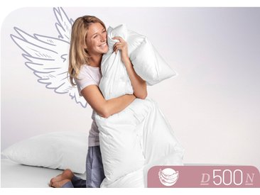 Daunenbettdecke, D500, Schlafstil, Füllung: 100% Daunen, Bezug: Baumwolle weiß, 240x220 cm weiß Daunendecke Bettdecken Bettdecken, Kopfkissen Unterbetten Bettdecke