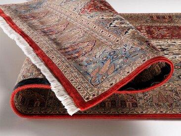 OCI DIE TEPPICHMARKE Läufer Sonam Bakhtyari, rechteckig, 6 mm Höhe, handgeknüpft, mit Fransen B/L: 80 cm x 300 cm, 1 St. rot Teppichläufer Teppiche und Diele Flur