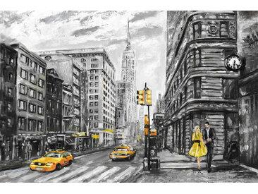 queence Leinwandbild New York 120x80 cm gelb Leinwandbilder Bilder Bilderrahmen Wohnaccessoires