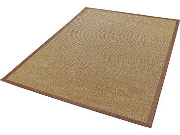 Dekowe Sisalteppich Mara S2 mit Bordüre, rechteckig, 5 mm Höhe, Flachgewebe, Obermaterial: 100% Sisal, Wohnzimmer B/L: 240 cm x 340 cm, 1 St. braun Teppiche