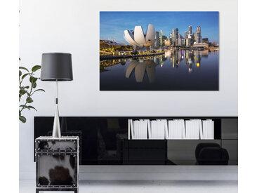 queence Acrylglasbild Stadt am Meer 150x100 cm bunt Acrylglasbilder Bilder Bilderrahmen Wohnaccessoires