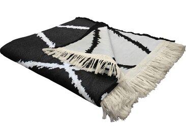 Wohndecke Casket Valdelana, Adam 145x190 cm, Baumwolle schwarz Baumwolldecken Decken Wohndecken