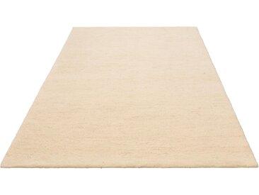 Leonique Wollteppich Punam, rechteckig, 28 mm Höhe, reine Wolle, echter Berber, handgeknüpft, Wohnzimmer B/L: 140 cm x 200 cm, 1 St. grau Esszimmerteppiche Teppiche nach Räumen