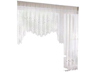 Bogenstore 120x300 cm, - Höhe 120 145 Automatikfaltenband weiß Kräuselband Gardinen nach Aufhängung Vorhänge Schals Garnituren