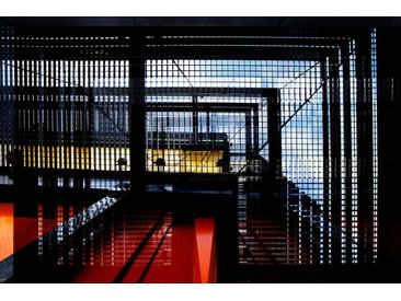 Places of Style Acrylglasbild Industrie 150x100 cm, bunt Acrylglasbilder Bilder Bilderrahmen Wohnaccessoires