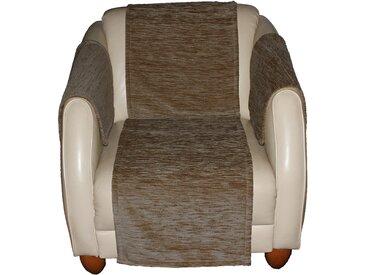 Sofaläufer, Miriam, Wirth, rechteckig, Höhe 5 mm 3, 40x200 cm, braun Sesselschoner Hussen Überwürfe Teppiche