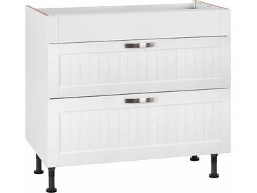 OPTIFIT Kochfeldumbauschrank Cara, Breite 90 cm, mit Vollauszügen und Soft-Close-Funktion x 87 58,4 (B H T) cm weiß Cara Küchenserien Küchenmöbel Schränke