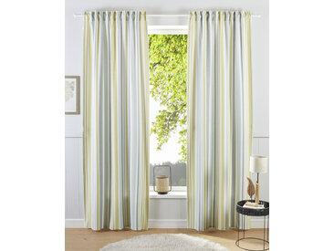 my home Gardine Stripe, Nachhaltig 175 cm, Multifunktionsband, 110 cm grau Blickdichte Vorhänge Gardinen