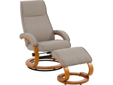 Home affaire Relaxsessel Paris (2-tlg., bestehend aus Sessel und Hocker) Webstoff beige