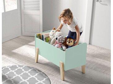 Vipack Spielzeugtruhe Kiddy, MDF-Oberfläche B/H/T: 80 cm x 48 39 grün Truhen Kleinmöbel
