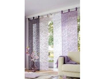 my home Schiebegardine Tanaro, Fertiggardine, inkl. Beschwerungsstange, halbtransparent 225 cm, Schlaufen, 57 cm weiß Wohnzimmergardinen Gardinen nach Räumen Vorhänge