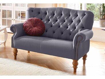 Home affaire 2-Sitzer Lord, mit echter Chesterfield-Knopfheftung und Ziernägeln B/H/T: 138 cm x 93 84 cm, Struktur fein rot Sofas Einzelsofas Couches