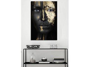 queence Acrylglasbild Anuket, Frau, (1 St.) B/H: 100 cm x 150 cm, schwarz Acrylglasbilder Bilder Bilderrahmen Wohnaccessoires