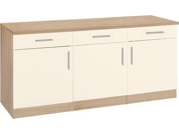 wiho Küchen Unterschrank Kiel, 180 cm breit B/H/T: x 85 60 cm, 3 gelb Unterschränke Küchenschränke Küchenmöbel