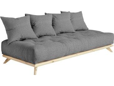 Karup Design Daybett Senza Daybed, mit Holzstruktur Baumwollmix, Liegefläche B/L: 90 cm x 200 Betthöhe: 85 cm, kein Härtegrad, Futonmatratze grau Einzelbetten Betten