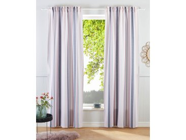 my home Gardine Stripe, Nachhaltig 145 cm, Multifunktionsband, 110 cm rosa Blickdichte Vorhänge Gardinen