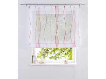 my home Raffrollo Dimona, mit Klettschiene 140 cm, Klettschiene, cm weiß Wohnzimmergardinen Gardinen nach Räumen Vorhänge